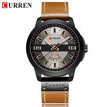 CURREN новые часы мужские модные спортивные кварцевые часы мужские часы брендовые роскошные кожаные военные водонепроницаемые часы Relogio Masculino(Китай)