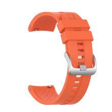 Цветной ремешок 22 мм для huawei Watch GT/GT 2 46 мм/42 мм для мужчин wo для мужчин Смарт-часы ремешок Браслет спортивный силиконовый(China)