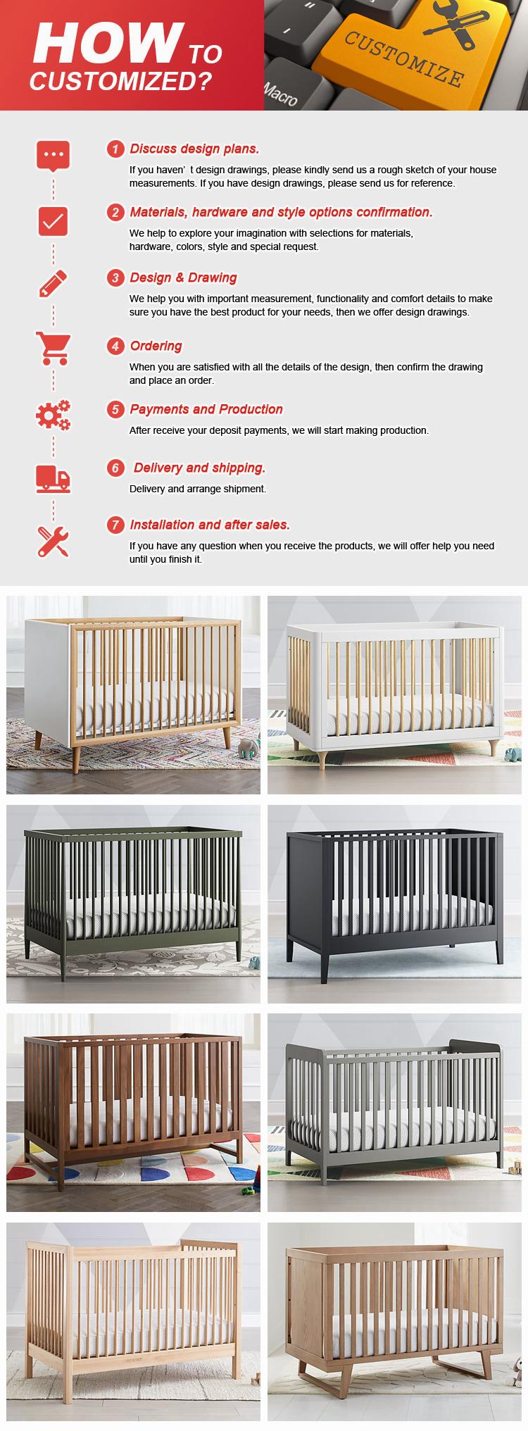 Factory direkten baby cots holz prinz kinderbett leander set mit großhandel preis