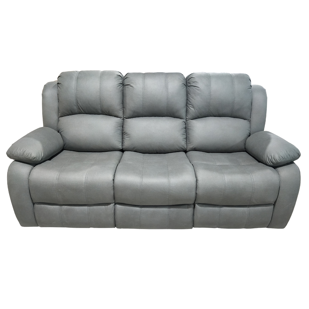 Classic hot sell high quality fabric cover with high density foam modern design recliner set 3 seat living room sofa