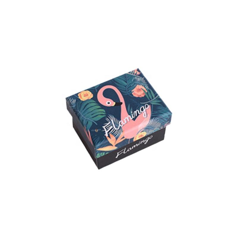 Nhỏ Flamingo Hộp Quà Tặng Bao Bì Hộp Đồ Trang Sức Trang Trí Đám Cưới Ngoài Trời Hấp Dẫn Sô Cô La Hộp Giấy Flexo Máy In