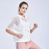 Female Blouse Loose Vision Mesh Sports Wear Quick-drying Running Training Top