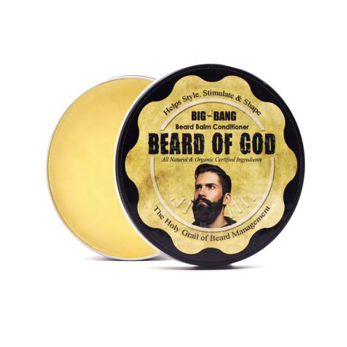 wholesale customized waterproof etichette round printing roll stickers 2.5 inch circle beard oil bottle blam private label