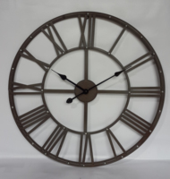 Dia 70cm Large Black Modern Antique Vintage Quarts Metal Wall Clock for living room