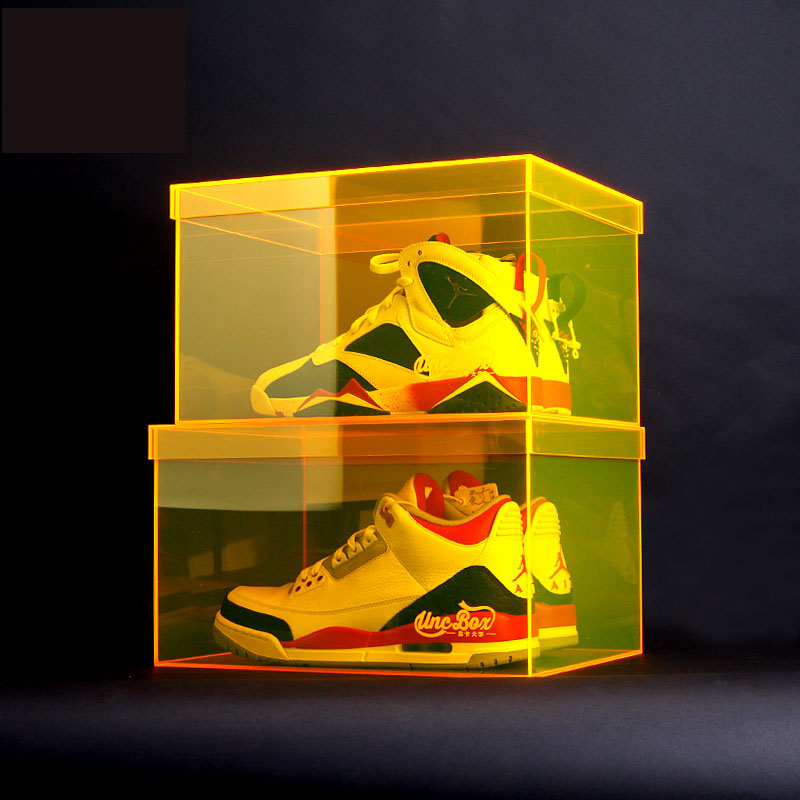 nike shoes men  acrylic sneaker  shoe box