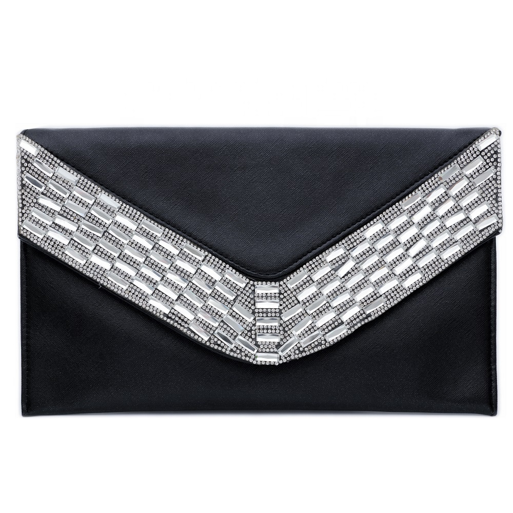 Womens <strong>Leather</strong> Evening Handbag <strong>Clutch</strong> With Detachable Chain Strap Wedding Cocktail Party Bag Large Envelope <strong>Clutches</strong>
