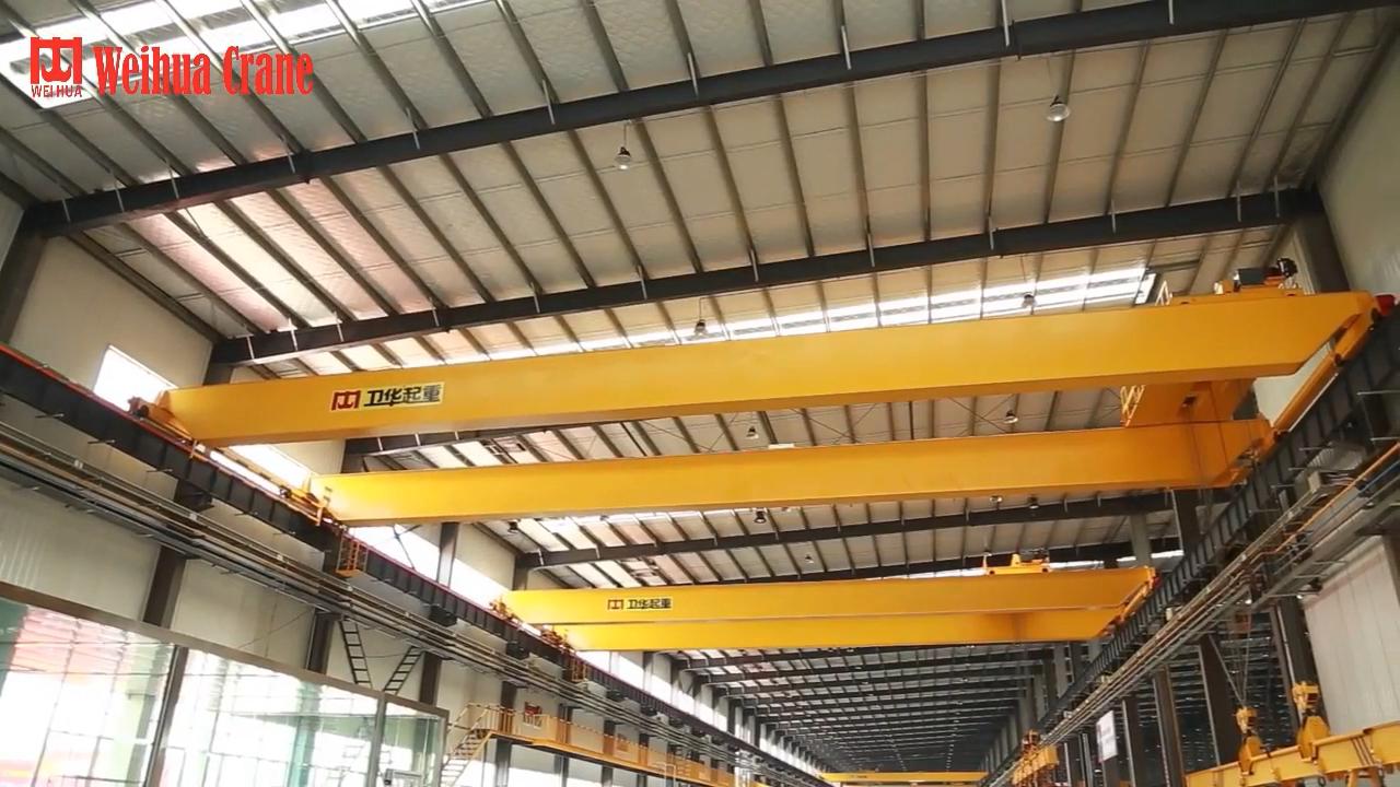 Radio Control Double Girder Workshop 20 ton Overhead Tarveling Hoist Bridge Crane