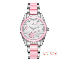 Женские брендовые часы LONGBO, роскошные часы с керамическим и легированным браслетом, аналоговые наручные часы, Relogio Feminino Montre, 2019(Китай)