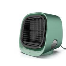 Кондиционер воздушный охладитель Портативный 4 в 1 Мини USB Вентилятор очиститель увлажнитель Настольный охлаждающий вентилятор 3 скорости д...(Китай)