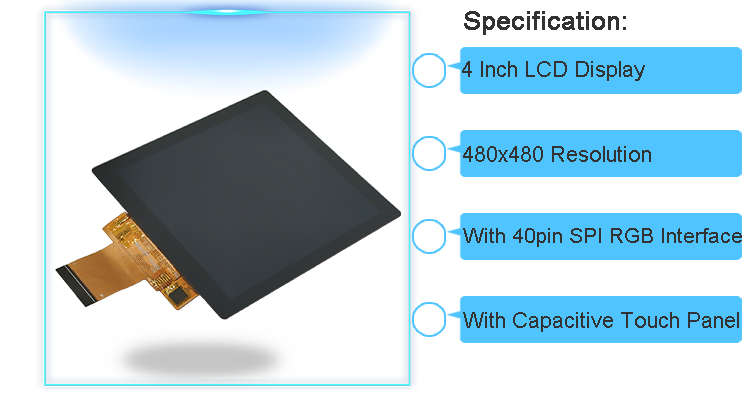 4 inch IPS TFT LCD touch screen