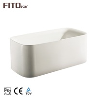 Exquisite Technical Acrylic Rectangle Soaking Square Freestanding Bathtub