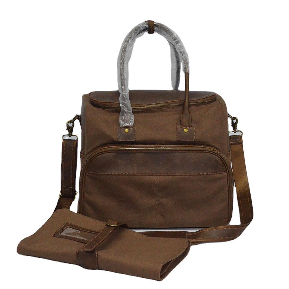 professional Multi-function Canvas Bartending Tote Bag leather Waterproof travel bartender kit bag