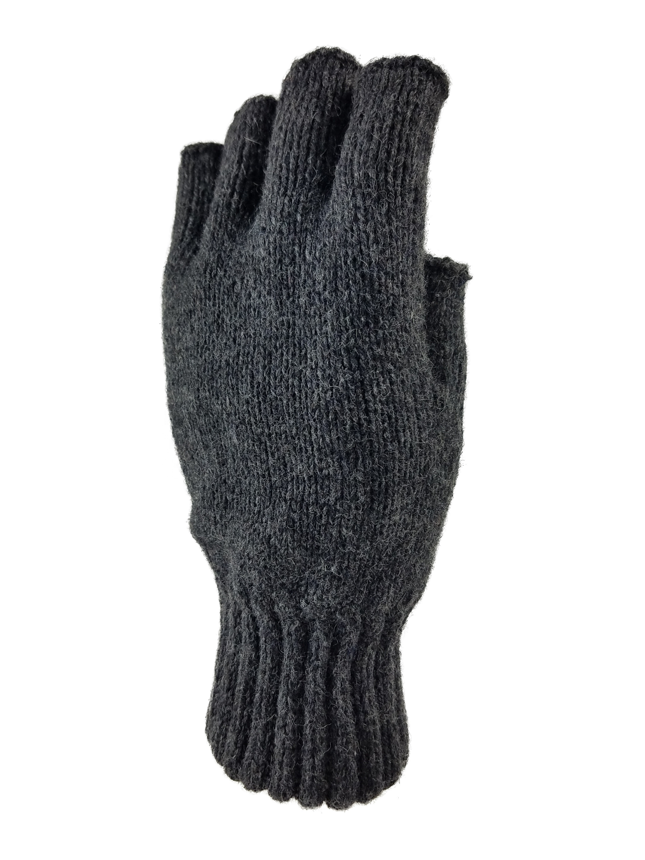 Men's knitted Fingerless Ragg Gloves with Thinsulate Lining