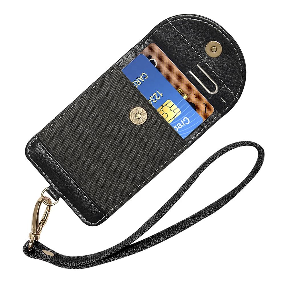 MINI บัตรเครดิตขนาดเล็กเหรียญเงินกระเป๋าหนัง PU Sticky Magnetic FLAP กระเป๋าสตางค์การ์ดสำหรับโทรศัพท์มือถือ