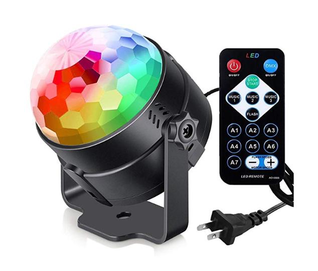 गर्म बिक्री डिस्को पार्टी मंच आरजीबी एलईडी प्रकाश रिमोट कंट्रोल आवाज नियंत्रण के साथ क्रिस्टल जादू गेंद प्रकाश का नेतृत्व किया