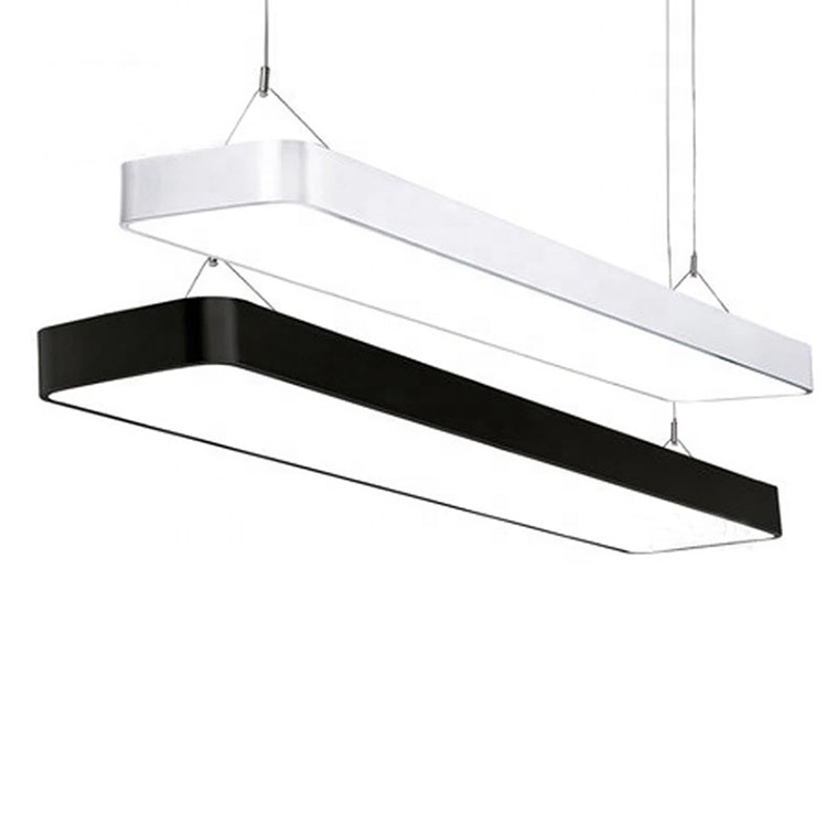 Customize low cost indoor suspend hanging 110lm/w 2ft 4ft 8ft ceiling office batten led linear hanging light