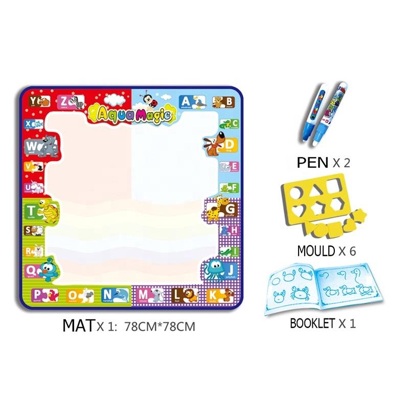 educational toys plastic magic water coloring painting set large aqua doodle drawing mat for kids