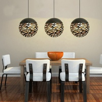 Hotel restaurant hanging chandelier lighting lamps round stainless steel china pendant light modern