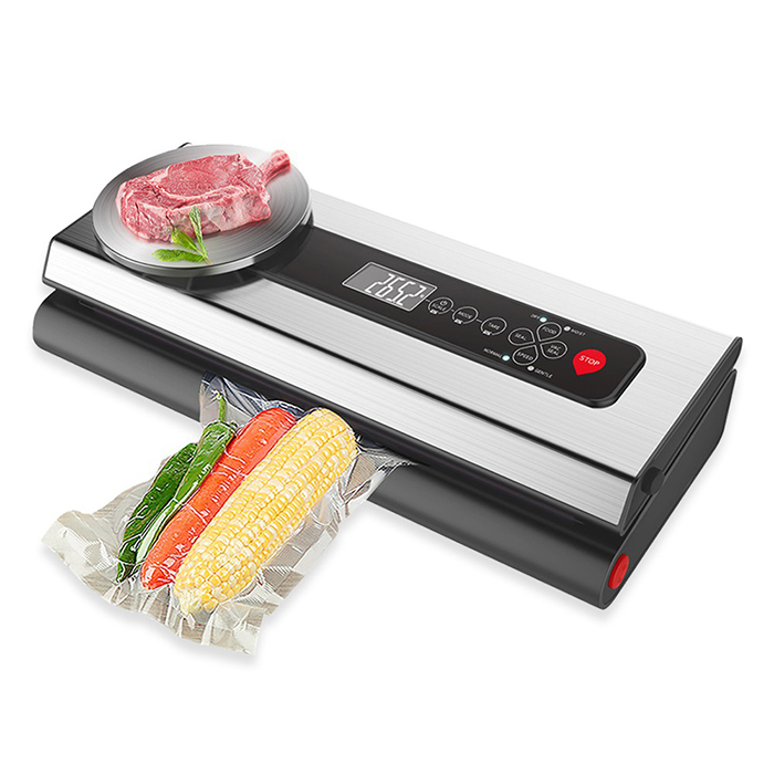 Stainless Steel Vacuum Packing Machine With Kitchen Digital Scale and Food Vacuum Bags Rolls for Vacuum Packaging and Sous Vide