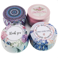 OEM Cheap Price Metal packaging Round Candy Candle Tin Candle Tin Can Candle Tin Box