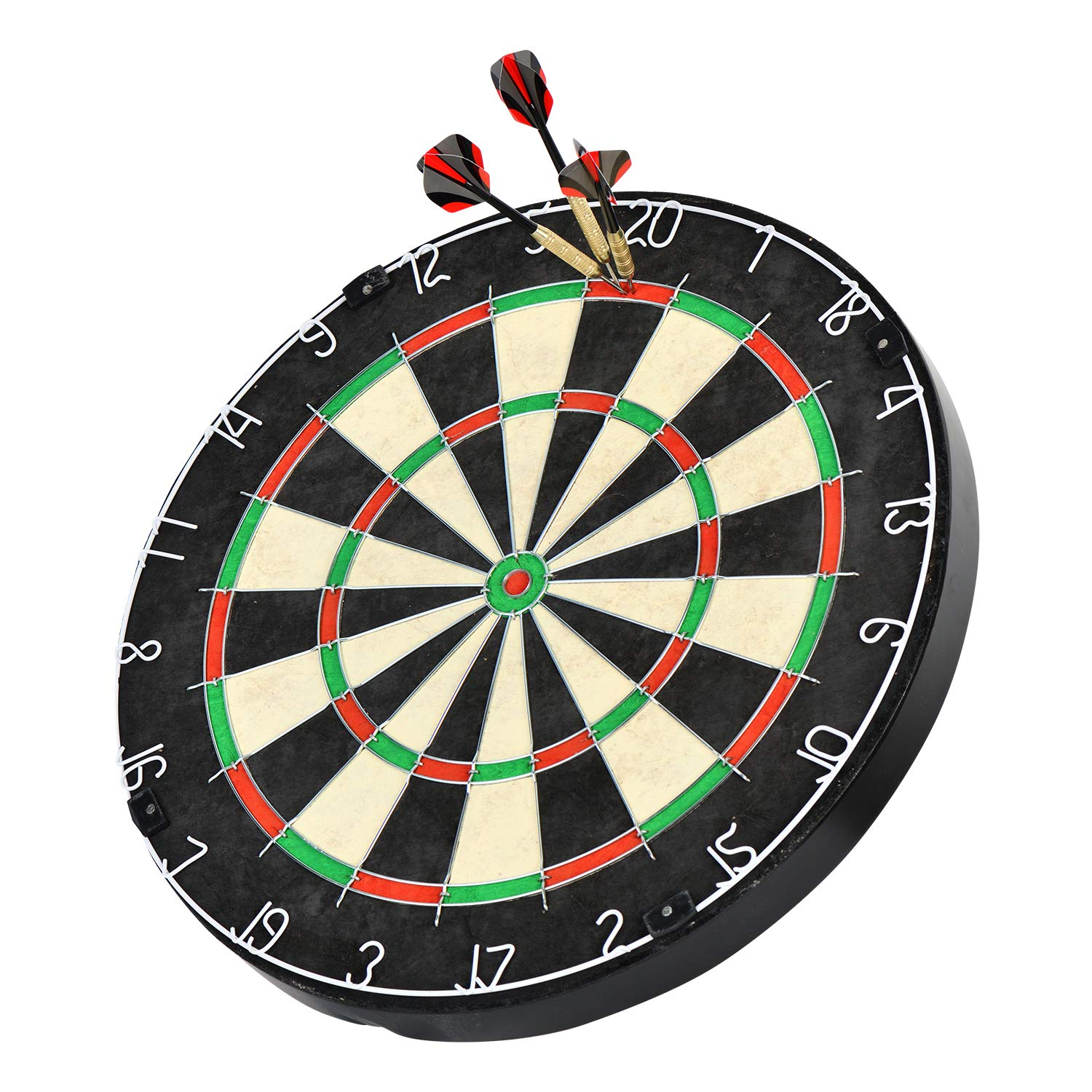 18'' Professional Bristle Dartboard with Staple-Free, blade wire, Self-Healing Sisal fiber