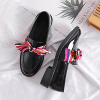Custom Patent Leather Ladies Dress Oxford Casual Shoes Leather Flats Women Loafers