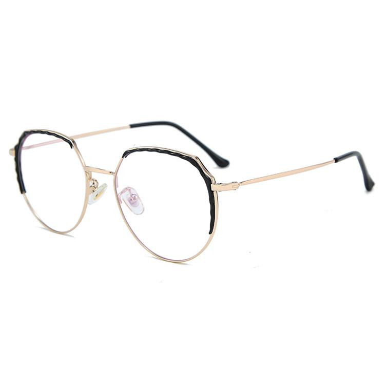 Fashion Transparent Alloy Clear Lens Eyewear Custom LOGO Unisex Optic Frames Glasses