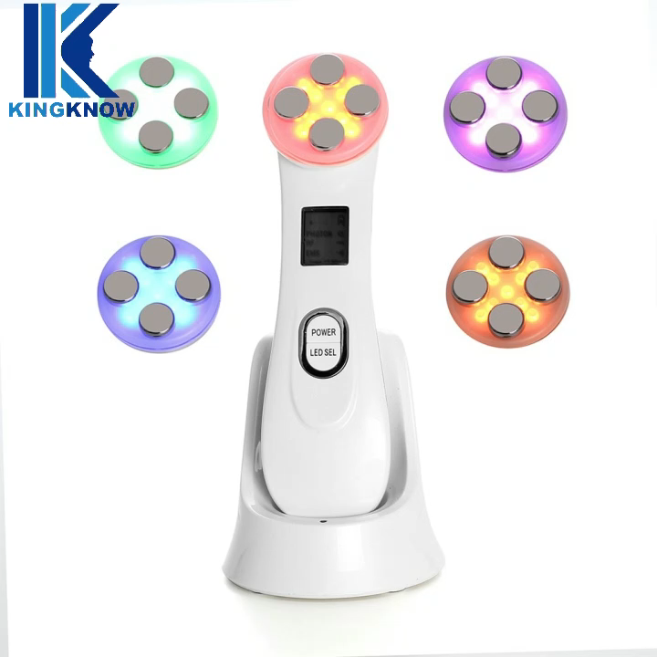 5 in 1 Skin Tightening LED EMS RF Face Lift Facial Care Beauty Device for Wrinkle Acne Pigment Removal