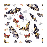 Home decor colorly vivid Butterflies 3D fabric wallpaper for Living Room