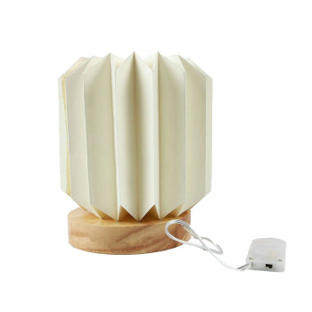 Wholesale Sunbeauty Patent Home Decoration 3D Handmade DIY Folded Led Light Shades Paper Lamp
