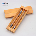 eco friendly custom logo wooden pen with case gift pen set bamboo stylus pen set with box