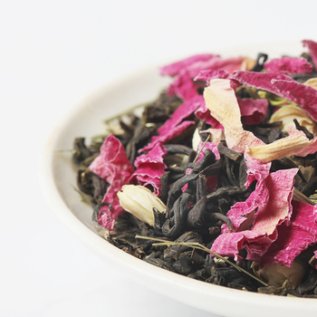 Chinese Loose Leaf Tea Vanilla Jasmine Bud Petal Flavored Blending Green Tea
