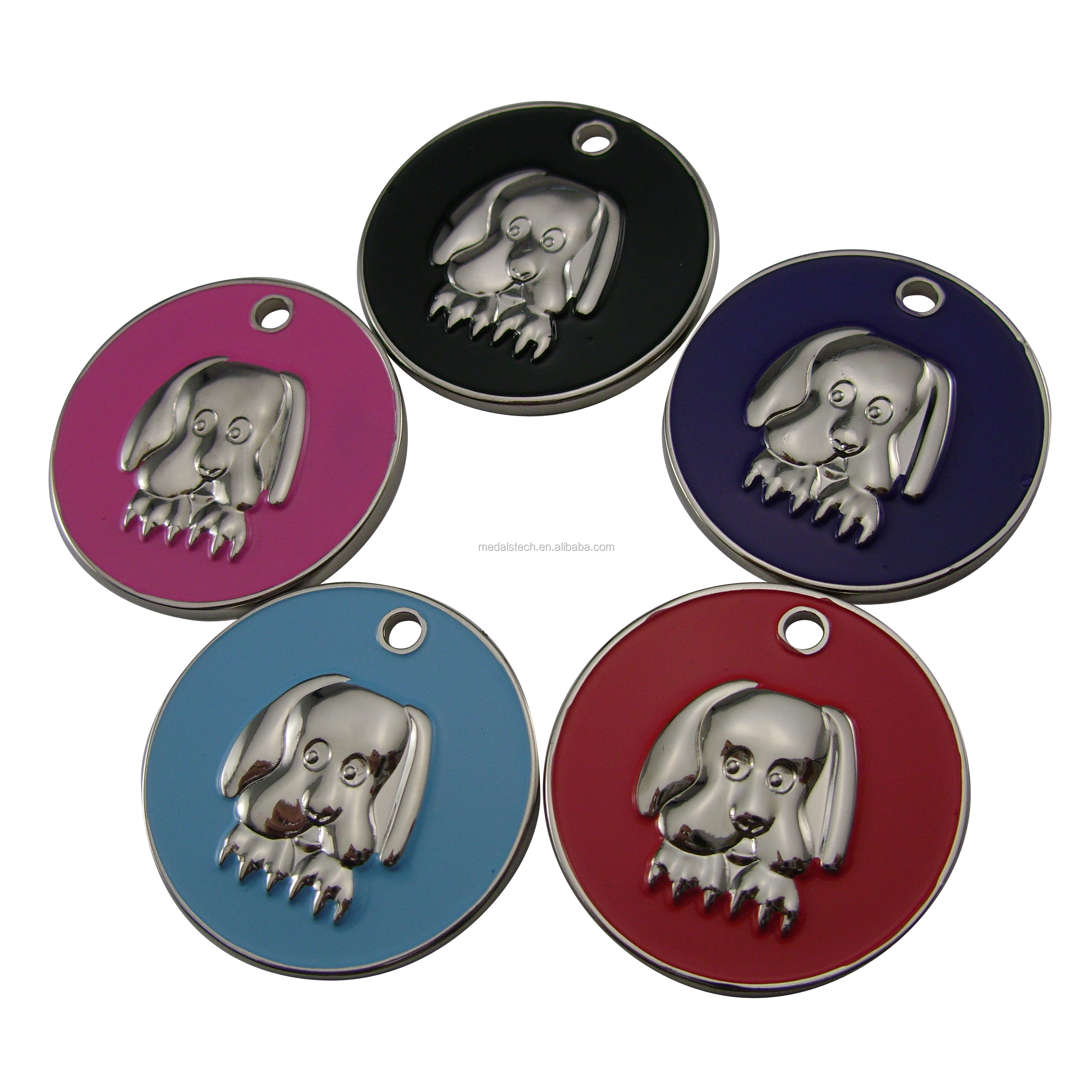 China manufacturer dog identified stainless steel tag with printing logo