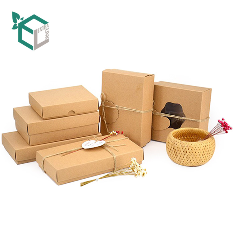 Özel çevre dostu depolama hızlı gıda ambalaj kraft kağdı kutu katlanır kutu