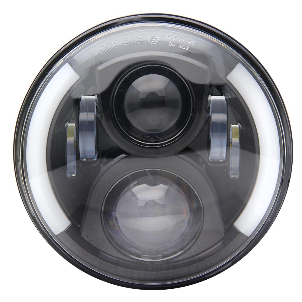 High power high beam 50w 7 inch Angel Eye DRL Turning Light Round  Led Headlight for Off road Car