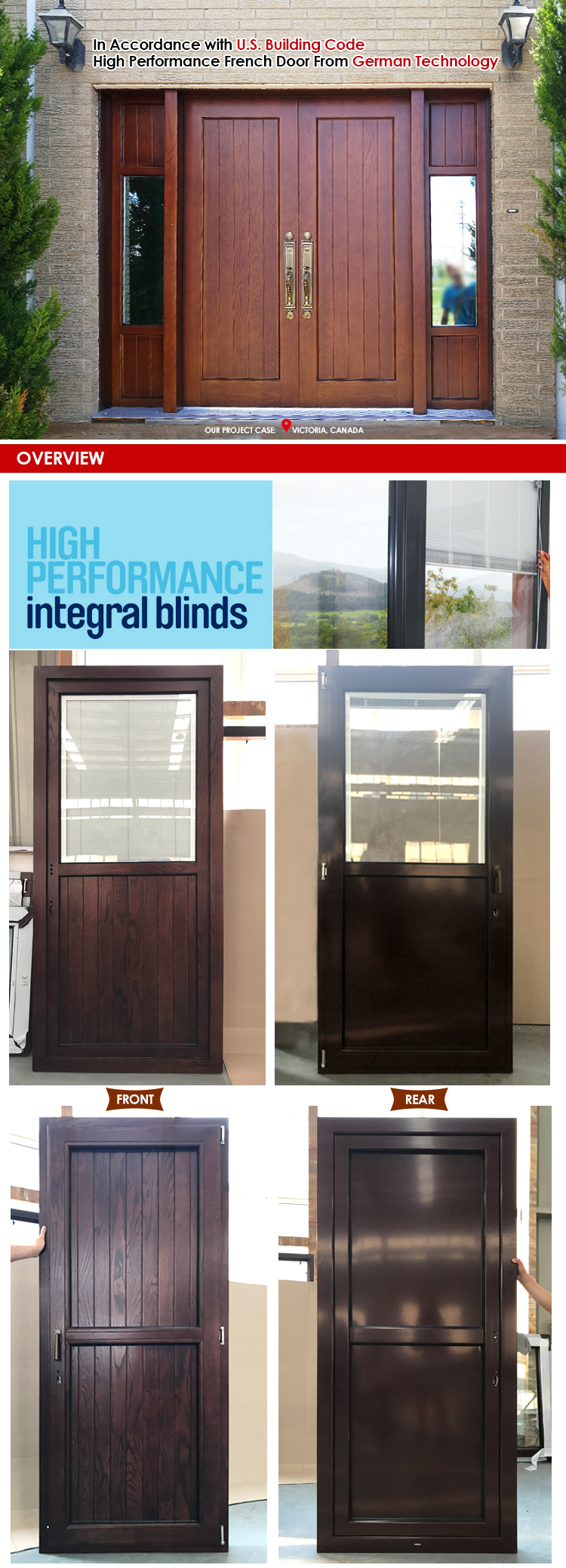 China certified supplier Paterson exterior solid wood doors for home front sale homes