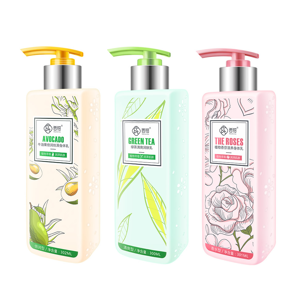 Wholesale OEM Private Label Lightening Hydrating Avocado Green Tea Rose Skin Tighten Moisturizing Nourishing <strong>Body</strong> Lotion <strong>Cream</strong>