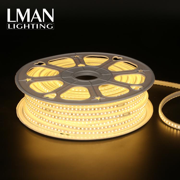 High voltage 50m per roll 110V 127V 220V 260V 120leds/m waterproof IP65 SMD 2835 led strip light