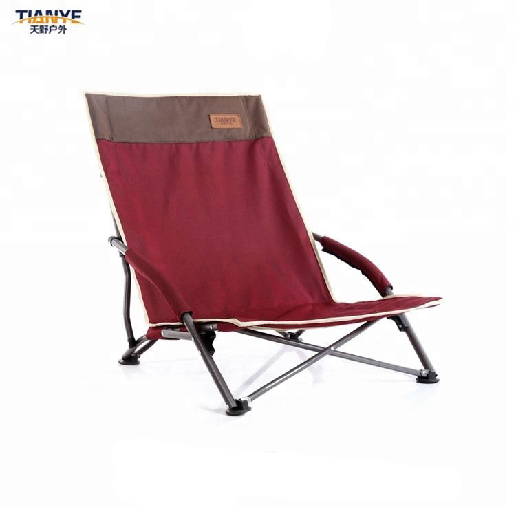 Portable Low Seat Outdoor Beach Camping Folding Chair With Canopy
