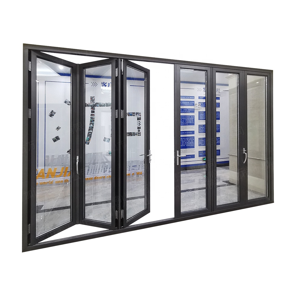 Bulk order good price exterior bi folding <strong>door</strong> for patio aluminum glass folding <strong>door</strong>