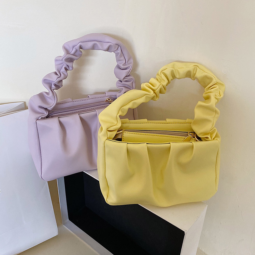 product-PU Leather Cloud Tote Bags For Women 2020 Solid Color Shoulder Messenger Bag Female Handbags