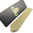 Custom Logo Jacquard Fashion Mens 100% Silk Neck Ties with Envelope Packaging