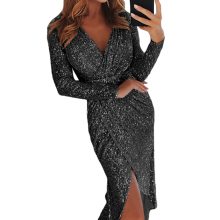 2019 Lady Sexy Paillettes <span class=keywords><strong>Abiti</strong></span> Eleganti Del Partito Del Merletto Hot Night Club Bodycon Delle Donne del Vestito