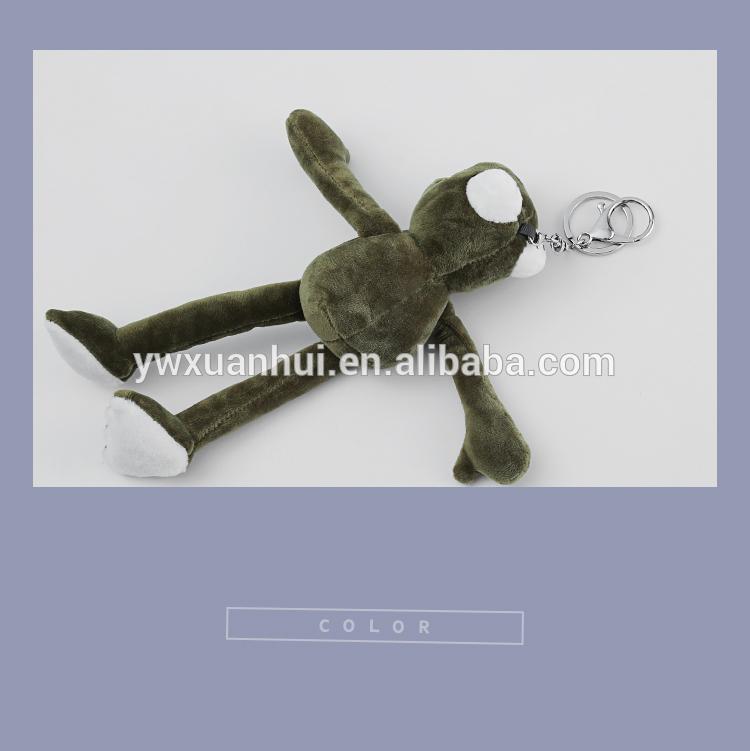 Kawaii בפלאש ירוק צפרדע keychain קטיפה צעצועים