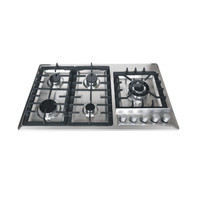 "Gas Cooktop 36"" Stainless Steel 5 Italy Sabaf Burners Stove Top gas hob"