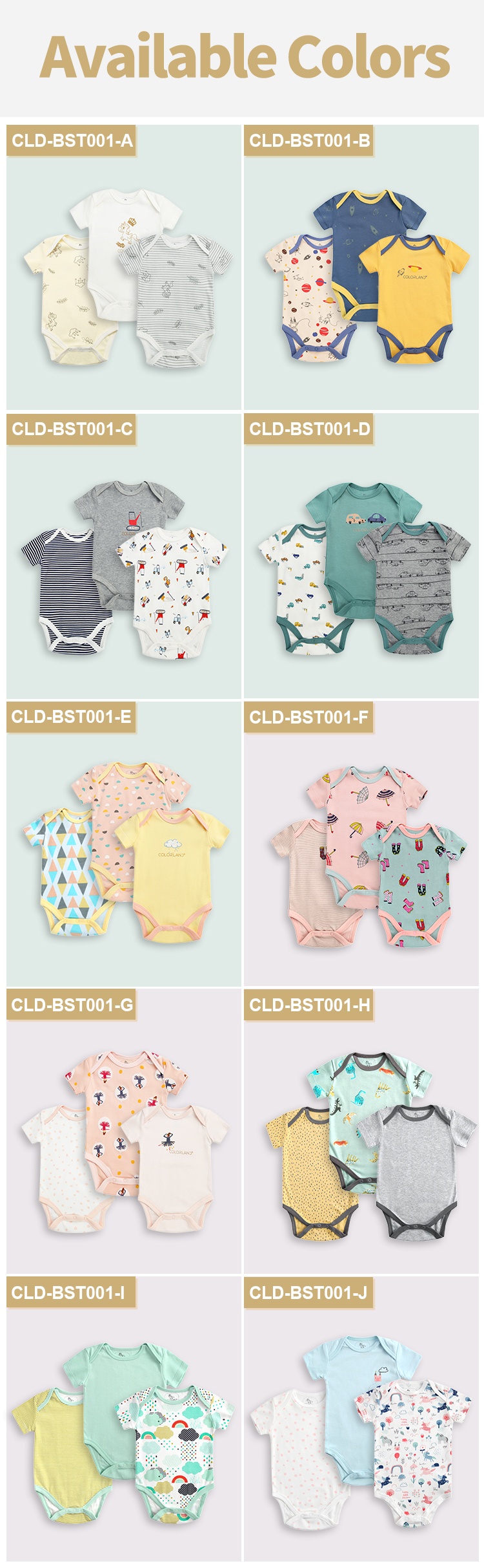 High quality level newborn clothing baby unisex clothes summer clothes