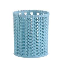 Пластиковая компактная корзина для кухни, ванной, офиса, стола, органайзер, держатель для ручек, свежий цвет, przybornik na biurko # A(Китай)