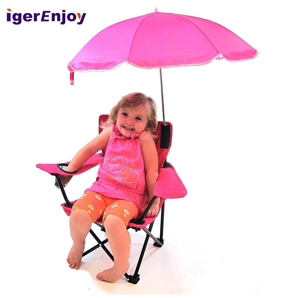 Kids Folding Beach Chair With Umbrella