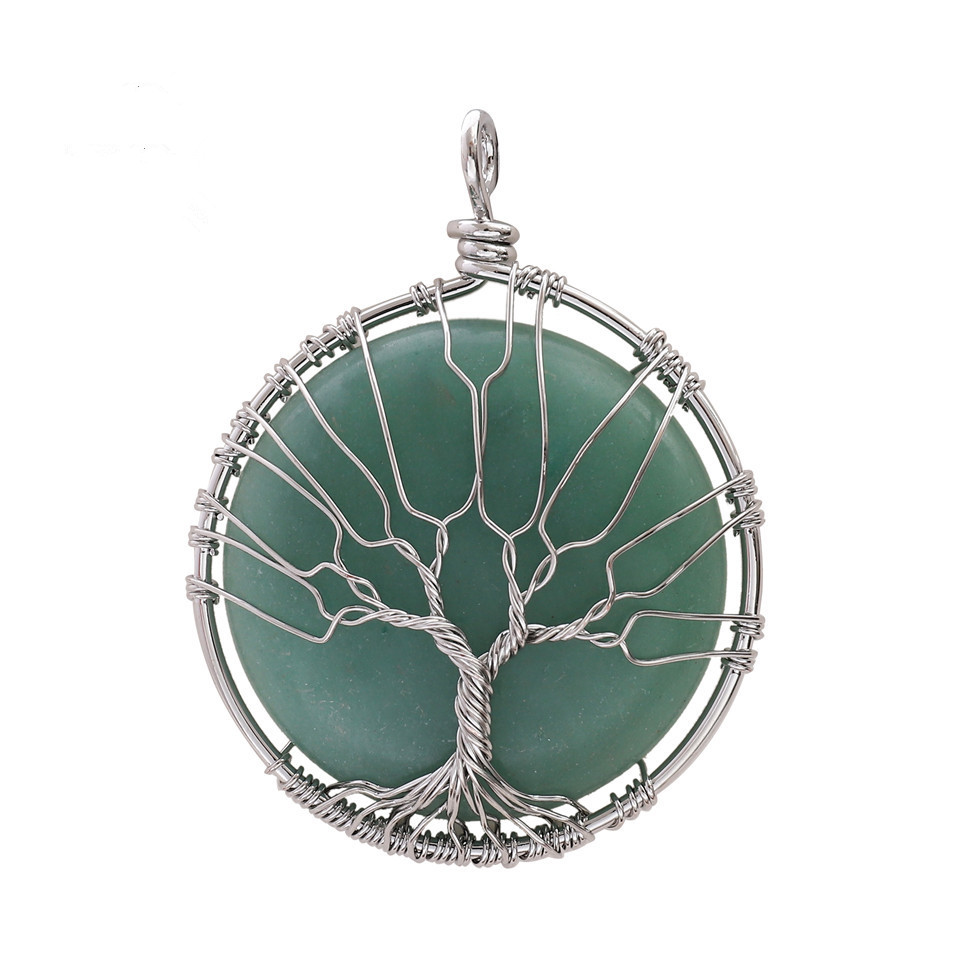 <strong>Natural</strong> <strong>emerald</strong> stone tree of life gemstone charm <strong>pendant</strong> for jewelry making