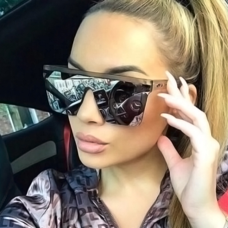 Wholesale good quality plastic sun shades trendy big square glasses custom logo fashion oversized sunglasses women men